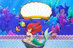 Montando minha festa: Kit digital gratuito para imprimir Ariel - A Pequena Sereia