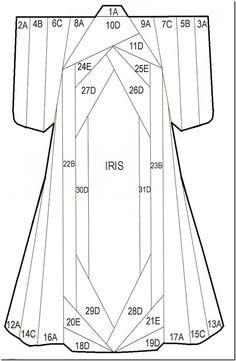 Iris folding template