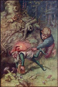 Frank Cheyne Papé ~ The Strawberry Thief ~ The Diamond Fairy Book ~ c1911 ~via But Fried held him fast.