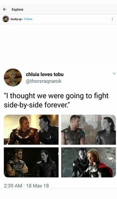 I AM KICKING AND SCREAMING IN THE FLOOR I'M SOBBING (Thor and Loki)