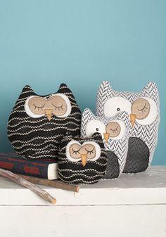 Owl in Plush Set, #ModCloth