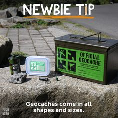 #19 Geocaches come in all shapes and sizes.