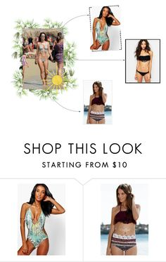 """""""Alessandra Ambrosio"""" by lourdes ❤ liked on Polyvore featuring PLANT and Boohoo"""