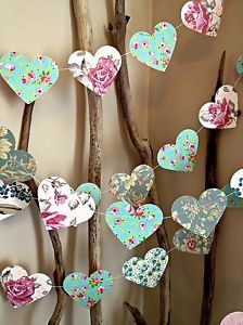 shabby shic girl rooms | ... Paper-Heart-Garland-Vintage-Shabby-Chic-Roses-wedding-love-girls-room