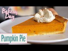 Pumpkin Pie (Amerikanischer Kürbiskuchen)   BakeMyDay - YouTube