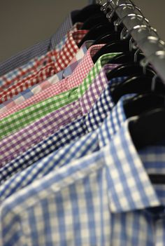 Gingham shirts from the Beckett & Robb F/W 2011 Collection.