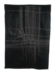 Life Lines 2012 Hand-stitched silk/cotton thread on linen. Will we ever get enough hand stitching?!