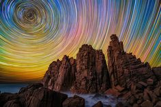 Long Exposure Shots of Australian Star Trails #photography #nature