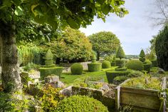 The famous Arts & Crafts topiary garden at Rodmarton plus the beautiful, ancient trougheries.