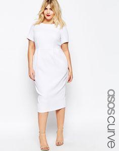 ASOS CURVE Midi Wiggle Dress in Texture (Plus Size)