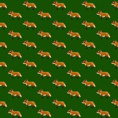 Foxes disco zoo wallpaper by Skwark