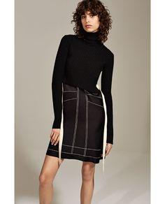 Image 1 of HIGH-COLLAR SHORT DRESS from Zara
