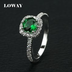 Click link to buy Size 5.5 LOWAY Re... http://www.jeremiahjewelry.online/products/5-5-loway-retro-ring-women-luxury-platinum-plated-aaa-cz-green-stones-high-quality-wholesale-jz5841?utm_campaign=social_autopilot&utm_source=pin&utm_medium=pin @JeremiahJewelry.Online
