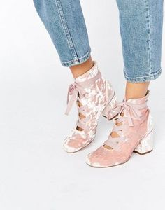 183346a99fb ASOS RANDA Lace Up Ankle Boots Pink Ankle Boots