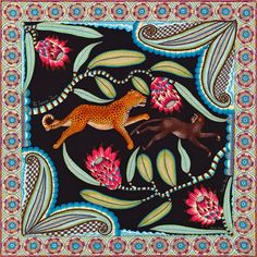 artafrica:    Ardmore Potters (KwaZulu Natal) has joined forces with  Hermès to design a range of beautiful scarves.