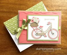 Stampin Up Bike Ride Friendship Birthday Card Idea - Mary Fish StampinUp