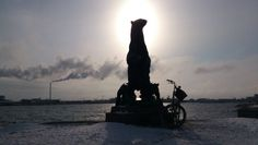 A cold day for a Diva in the snow at Langelinie, Copenhagen. ... Tags: #Batavus, #Diva, #Bicycle, #Bike, #small #adventure, #Copenhagen, #Langelinie