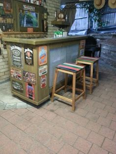 Funky bar stools