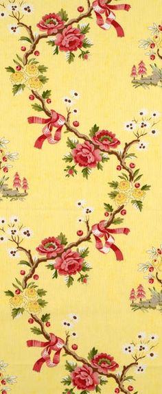 Scalamandre Floreale, 1-877-229-9427 www.eadeswallpaper.com #designerwallpaper #wallpapersale #DIY
