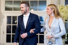 Blake Lively flashes her Spanx with husband Ryan Reynolds at dinner with Canadian Prime Minister | Daily Mail Online