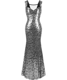 Women's Queen Anne Neckline Sequins Mermaid Long Party Dress - Silver - CG12N6GKSS4,Women's Clothing, Dresses, Formal  #Dresses #Clothing #Style #gifts Queen Anne Neckline, Silver Dress, Women's Clothing, Party Dress, Mermaid, Sequins, Clothes For Women, Formal Dresses, Gifts