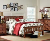 The Breckenridge #bedroom, made with #oak solids and is shown in an espresso finish, is one of a dozen in the L.J. Gascho line. Featured in the June 3, 2013, Issue of Furniture Today. #Furniture
