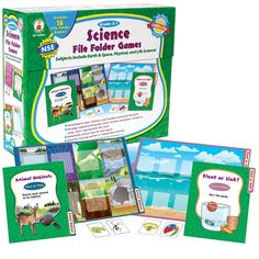 Science file folder games--use in stations/centers