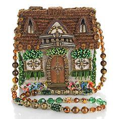 "Mary Frances ""Home Sweet Home"" Beaded Handbag at HSN.c ( i like the beaded strap idea) Unique Handbags, Unique Purses, Unique Bags, Purses And Handbags, Mary Frances Purses, Mary Frances Handbags, Beaded Boxes, Beaded Purses, Vintage Purses"