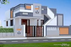 30 Beautiful Small House Front Elevation Design 2019 / Ground Floor Elevation Ideas - Decor Tips 2019 House Front Wall Design, House Balcony Design, House Outer Design, Single Floor House Design, Small House Design, Front Elevation Designs, House Elevation, Building Elevation, Beautiful Small Homes