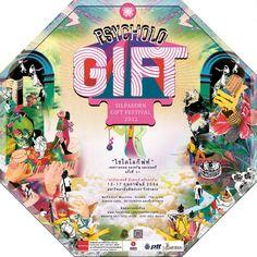 """เทศกาลของขวัญ ขนม และดนตรี ครั้งที่ 31  Silpakorn Gift festival    """"Psychologift"""" เทศกาลของขวัญ ขนม และดนตรี ครั้งที่ 31   13 - 17 กุมภาพันธ์ 2556 มหาวิทยาลัยศิลปากร วังท่าพระ    Silpakorn Gift festival 31st 13-17 February 2013    Gift, homemade sweets, Live Music   at Silpakorn WangthaPhra   13-17 February 2013  5.00 pm. - 11 pm.    fb.me/psychologift31 Slot Machine, Art Direction, Artwork, Poster, Gifts, Work Of Art, Favors, Presents, Gift"""