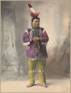 Native American with rifle