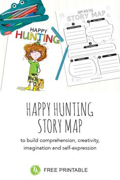 Use the Happy Hunting Story Map to help kids become engaged and active readers, developing their comprehension, expression and creativity. Happy Stories, Free Stories, Feeling Thankful, Map Activities, How To Start Conversations, True Happiness, Activity Sheets, Positive Messages, Kids Reading