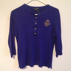 Long sleeve with crest by Ralph Lauren Excellent condition no stains or tears Ralph Lauren Tops Tees - Long Sleeve