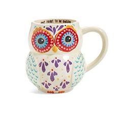 Natural Life MUG181 Folk Owl Mug Don't Forget Awesome