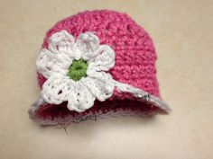 Crochet Newborn Hat Baby Girl Hat Flapper by CherryBlossomShoppe, $19.50