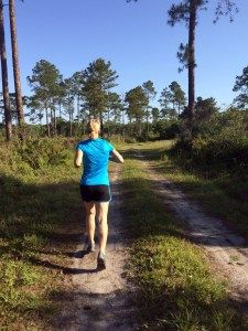 Trail Running at Guana River Wildlife Management   Ponte Vedra, Florida near Jacksonville