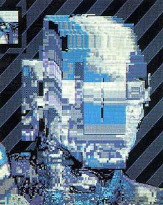 William Gibson, Cover for Burning Chrome, 1982