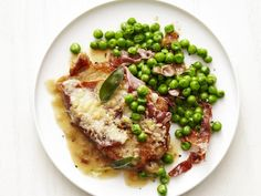 Pork Saltimbocca with Peas Recipe : Food Network Kitchen : Food Network Pea Recipes, Italian Recipes, Cooking Recipes, Dinner Recipes, Dinner Ideas, Roast Recipes, Entree Recipes, Meal Ideas, Chicken Recipes
