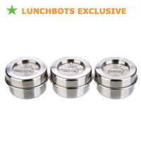 Condiment Containers from Lunchbots. Makes taking your work to lunch a bit more refined. Specialty homemade sauces and dressings don't have to stay at home!