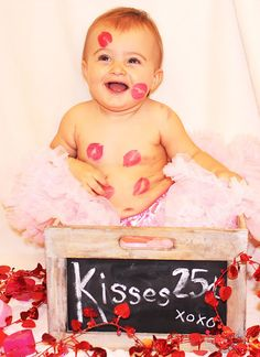super cute valentine baby photography idea