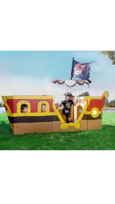 Cardboard Pirate ship