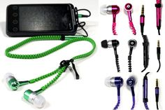 Never Tangle Zipper Earbuds with Mic  Untangle yourself from traditional headphones and enjoy the freedom these earbuds offer  61% OFF
