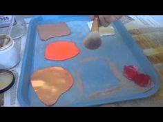 How to make gold fondant and wafer paper for cake decorating - YouTube