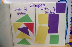 math journal.  Helping children describe shapes is just as important, if not more, as naming them.