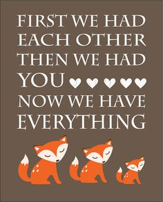 Orange and Brown Fox/Woodland Nursery Quote Print - 8x10 on Etsy, $10.00