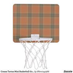 Cream Tartan Mini Basketball Goal