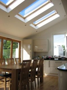 extension semi-detached arts and crafts House Extension Design, Roof Extension, Extension Ideas, Garden Room Extensions, House Extensions, Victorian Kitchen, Victorian Homes, Glasgow, Vaulted Ceiling Kitchen