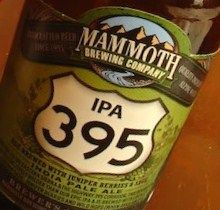 Mammoth IPA 395 with juniper berries and sage, so unique and so delicious!
