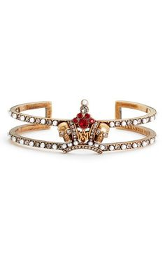 Alexander McQueen Alexander McQueen Skull Crown Bracelet available at #Nordstrom