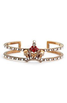 Alexander McQueen Alexander McQueen Skull Crown Bracelet available at #Nordstrom